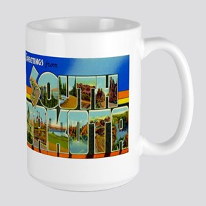 South Dakota SD Large Mug