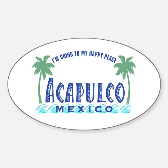 Acapulco Happy Place Oval Decal