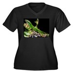 Anole at Night Women's Plus Size V-Neck Dark T-Shi