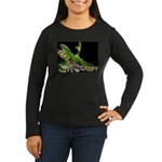 Anole at Night Women's Long Sleeve Dark T-Shirt