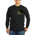 Anole at Night Long Sleeve Dark T-Shirt