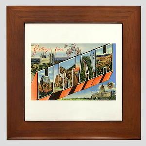 Utah UT Framed Tile