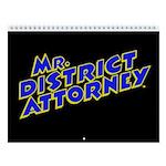 Mr. District Attorney 2018 12-Month Wall Calendar