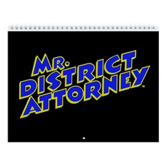 Mr. District Attorney 2018 12-Month Wall Calendar