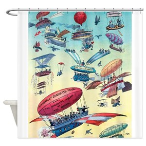 Funny Aviation Shower Curtains