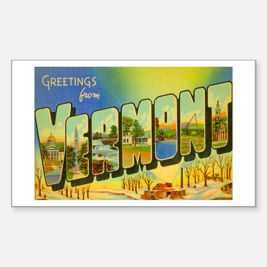 Vermont VT Rectangle Decal