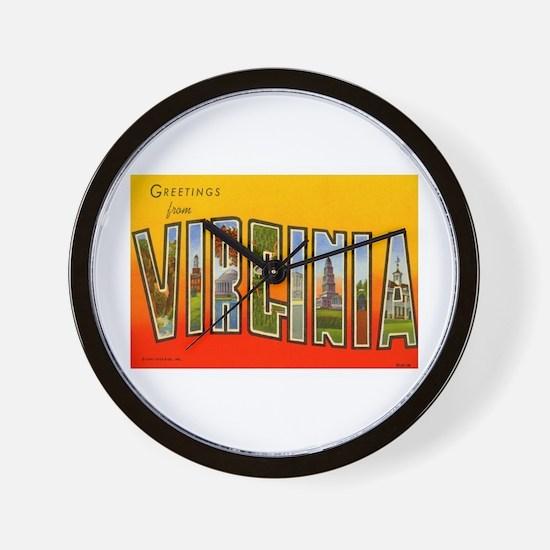 Virginia VA Wall Clock