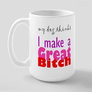 My Dog thinks ... Large Mug