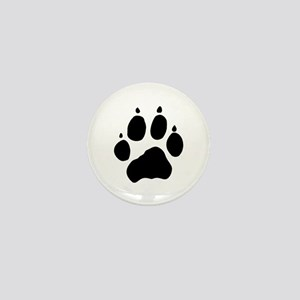 Wolf Paw Mini Button