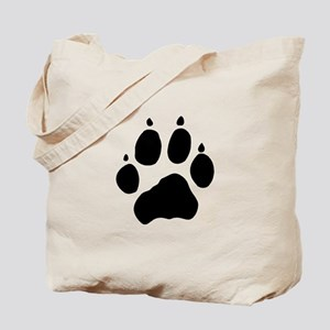 Wolf Paw Tote Bag