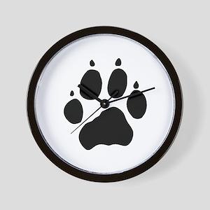Wolf Paw Wall Clock