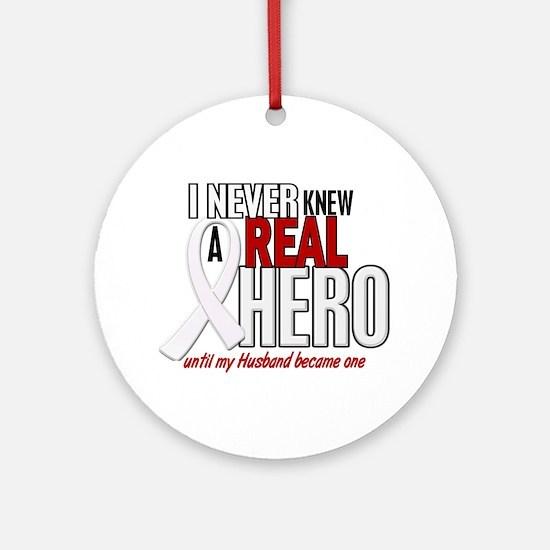 Never Knew A Hero 2 PEARL (Husband) Ornament (Roun