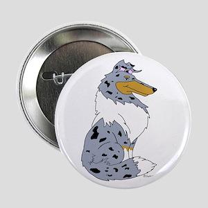 "Blue Merle Rough Collie 2.25"" Button"