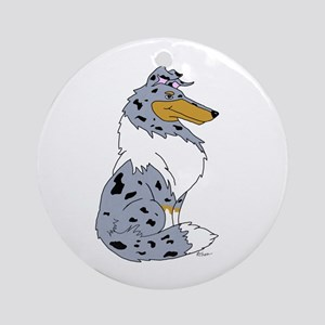 Blue Merle Rough Collie Ornament (Round)