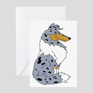 Blue Merle Rough Collie Greeting Card