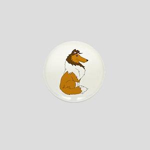 Sable Rough Collie Mini Button