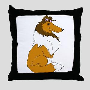 Sable Rough Collie Throw Pillow