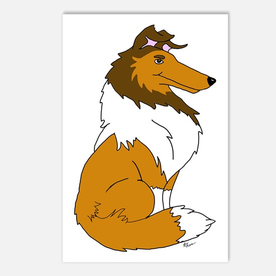 Sable Rough Collie Postcards (Package of 8)