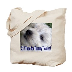 21st Birthday Gifts, Westie T Tote Bag