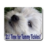 21st Birthday Gifts, Westie T Mousepad