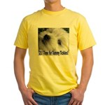 21st Birthday Gifts, Westie T Yellow T-Shirt