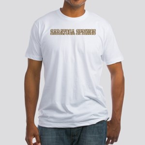 saratoga springs (western) Fitted T-Shirt