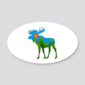 FOREST Oval Car Magnet