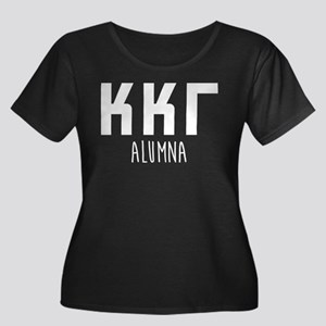 Kappa Ka Women's Plus Size Scoop Neck Dark T-Shirt