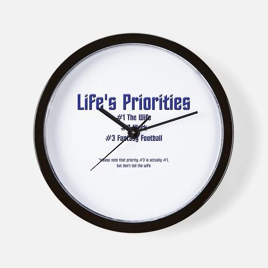 Life's Priorities Wall Clock