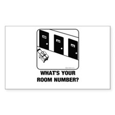 *NEW DESIGN* What's Your Room Number? Sticker (Rec