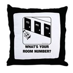 *NEW DESIGN* What's Your Room Number? Throw Pillow