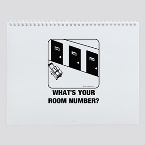 *NEW DESIGN* What's Your Room Number? Wall Calenda