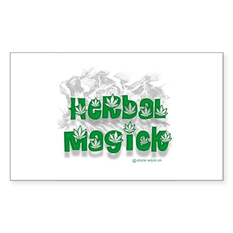 Herbal Magick (Pagan/Wiccan Sticker Rectangular)