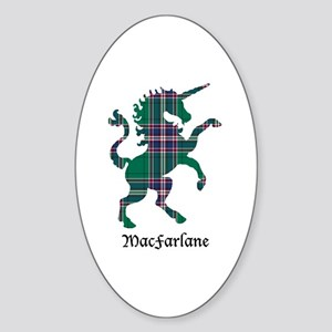 Unicorn-MacFarlane hunting Sticker (Oval)