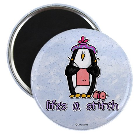 """life's a stitch 2.25"""" Magnet (100 pack)"""