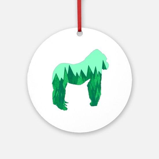 GORILLA Round Ornament