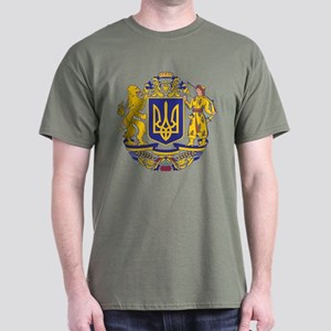 Ukraine Large Coat Of Arms Dark T-Shirt