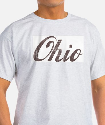 Vintage Ohio Ash Grey T-Shirt