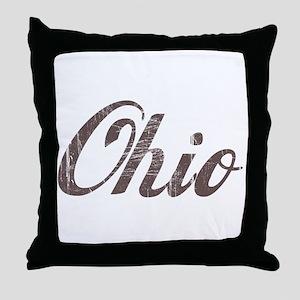 Vintage Ohio Throw Pillow