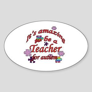 Amazing teaching Oval Sticker