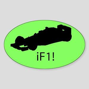 iF1! Oval Sticker