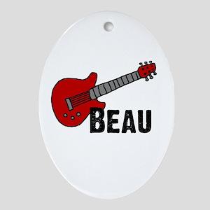 Guitar - Beau Oval Ornament