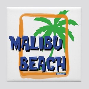 Malibu Beach Palm Tree Tile Coaster