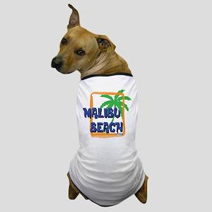Malibu Beach Palm Tree Dog T-Shirt