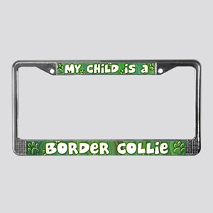 My Kid Border Collie License Plate Frame