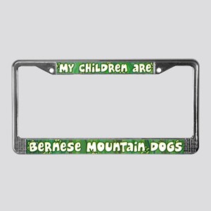 My Children Bernese Mtn Dog License Plate Frame