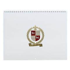 DOUCET Family Crest Wall Calendar