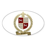DOUCET Family Crest Oval Sticker