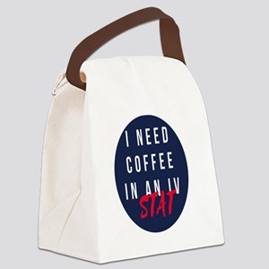 Coffee in my veins Canvas Lunch Bag