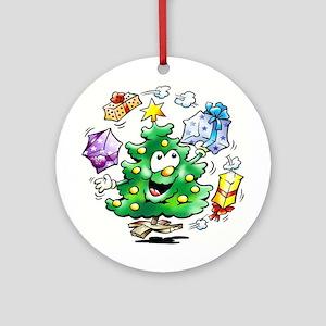 CHRISTMAS TREE Round Ornament